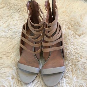 Shoes - Nude strappy heels